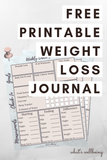 Mesmerizing image with printable weight loss journals