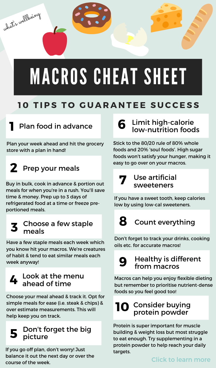 Beginners Guide to Counting Macros for Weight Loss - What ...